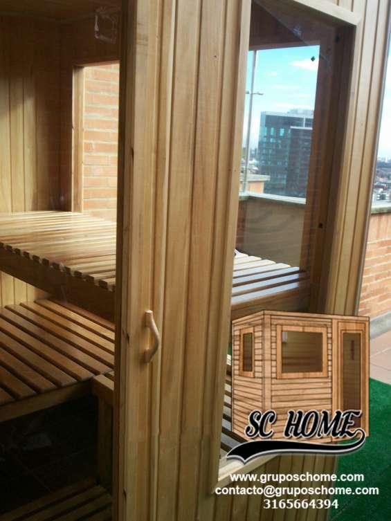 Saunas en pino patula o madera teka