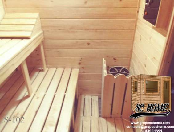 Fotos de Saunas en pino patula o madera teka 8