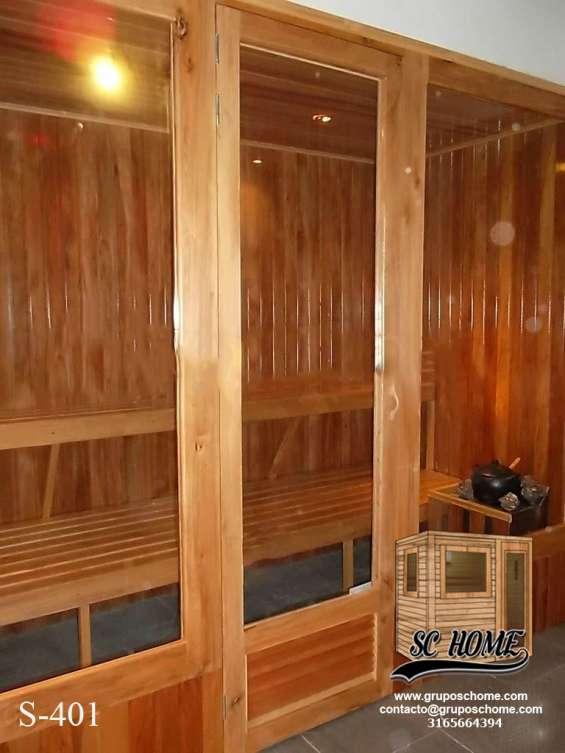 Fotos de Saunas en pino patula o madera teka 4