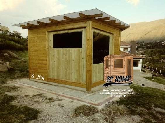 Fotos de Saunas en pino patula o madera teka 2