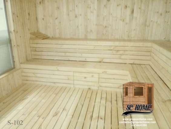 Fotos de Saunas en pino patula o madera teka 6