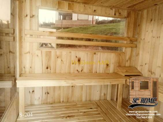 Fotos de Saunas en pino patula o madera teka 3