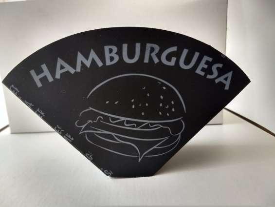Porta hamburguesa plastificada