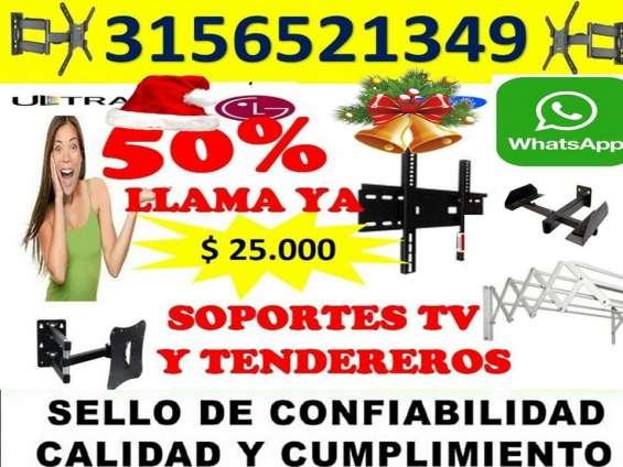 Soportes para tv y tendederos lo mejor en bucaramanga 3155978672