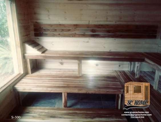 Fotos de Saunas en pino patula o madera teka 9