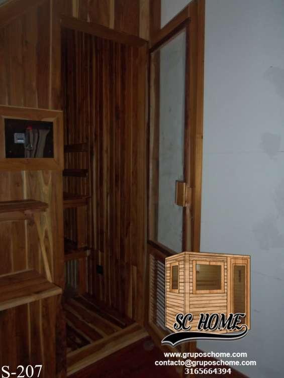 Fotos de Saunas en pino patula o madera teka 11