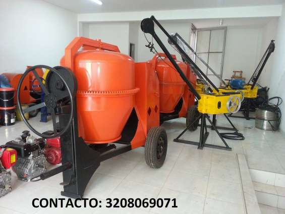 Mezcladoras dos bultos para concreto gasolina 9hp