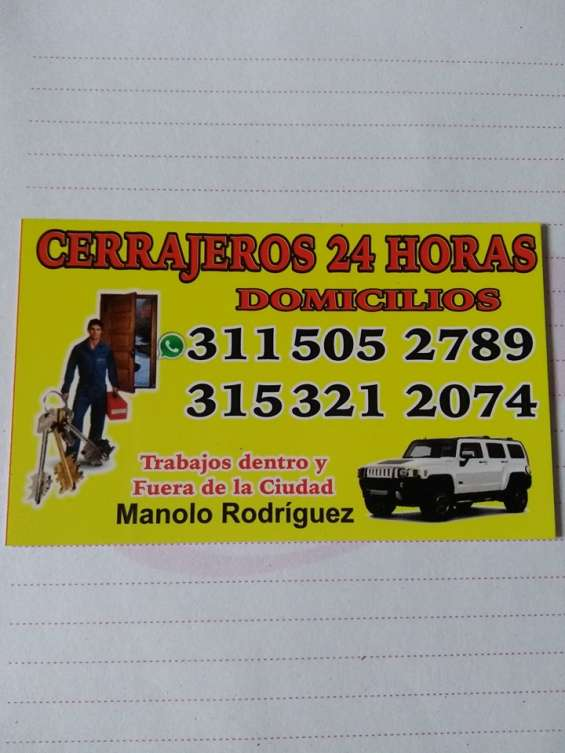 Cerrajeros domicilios 311 5052789