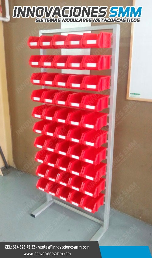 Mueble organizador de tornillos, tornilleros metaloplasticos