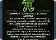 Desarrollo de exámenes y trabajos de matemáticas, física, estadística, estática,..