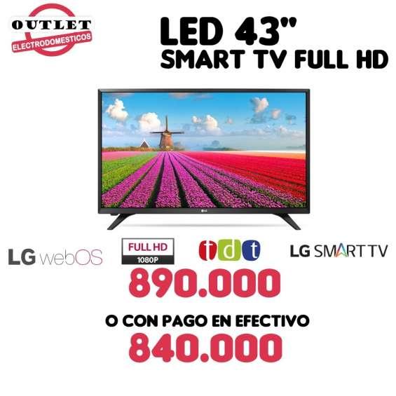"""Led 43"""" smart tv full hd marca lg"""