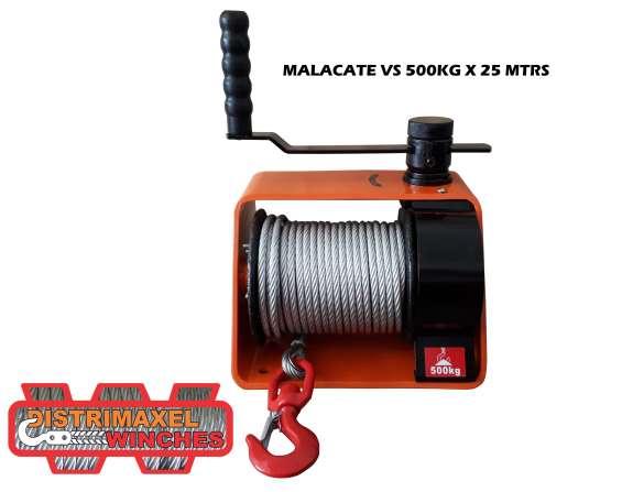 Malacate winche manual vs500kg 25m