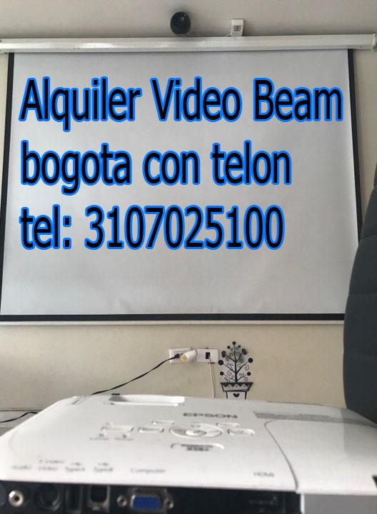 Alquiler video beam bogota con telon tel: 3107025100
