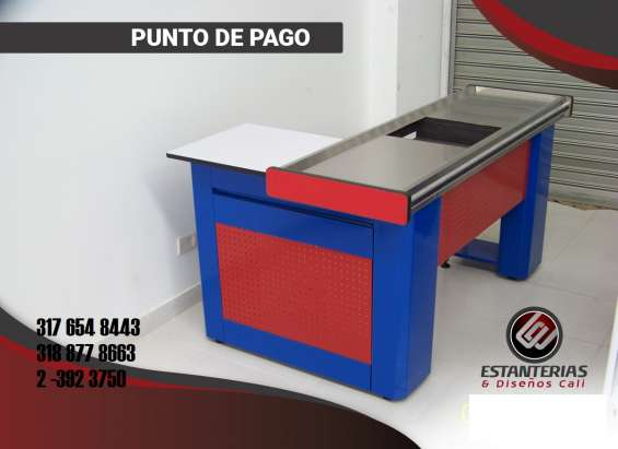 Fotos de Punto de pago color rojo con bisel azul en mood gross
