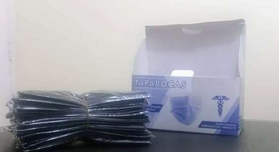 Tapabocas caja x 50 unidades color negro