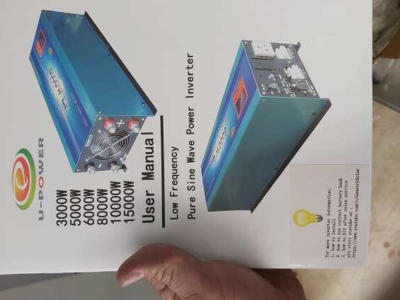 Inversor de 8000watts de 24v a 110/220 marca power jack upc