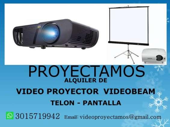 Alquiler video beam proyector telón pantalla santa marta