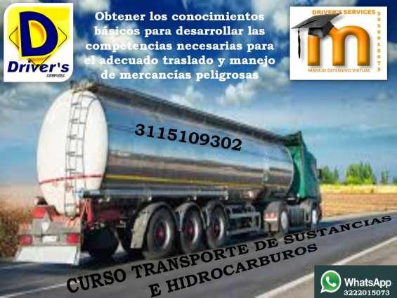 Curso en transporte de sustancias y mercancías peligrosas resolución 1223