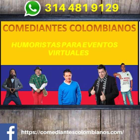 Humoristas colombianos show virtuales en bogotá