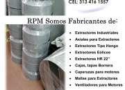 Comercializamos turbinas centrífuga, extractores y ventiladores industriales en ricaurte