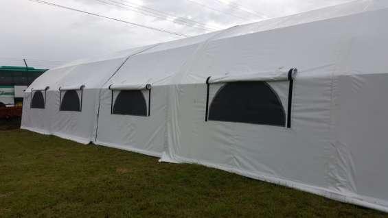 Venta y alquiler de carpas para bode-gaje, obras, campamentos y almacenamientos